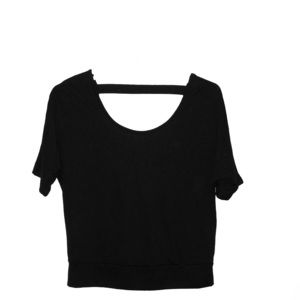 Back short sleeve Crop Top with Open Back. Worn 1x